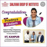 Pradnya Kadam selected in IIT,Kanpur in Aerospace Department Specilizations in Structures